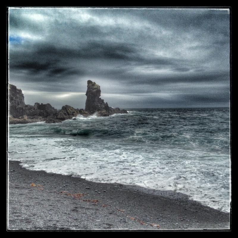 a stormy west coast of iceland