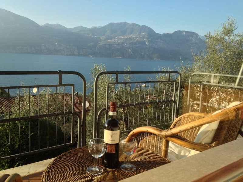 a balcony overlooking Lago di Garda, Italy