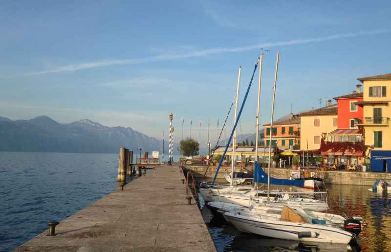 the harbor at Castelletto, Italy