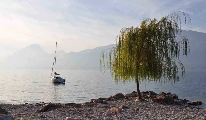 a boat on Lago di Garda, Italy